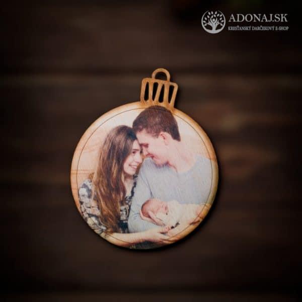 Vianočná guľa s fotkou